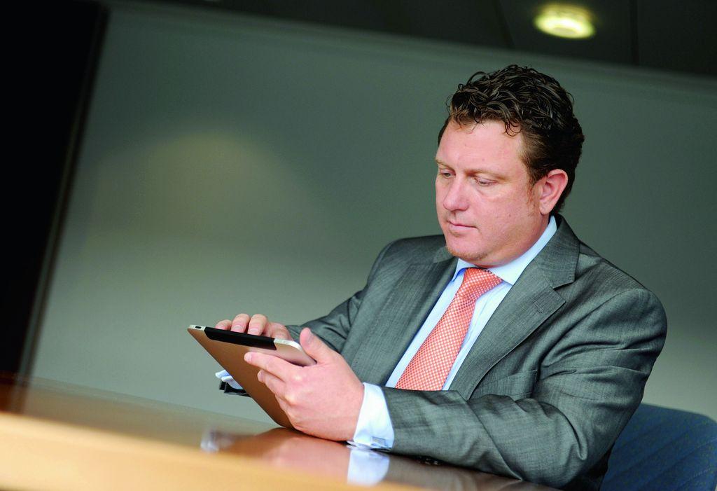 Jimmy Schulz mit iPad, Foto: privat
