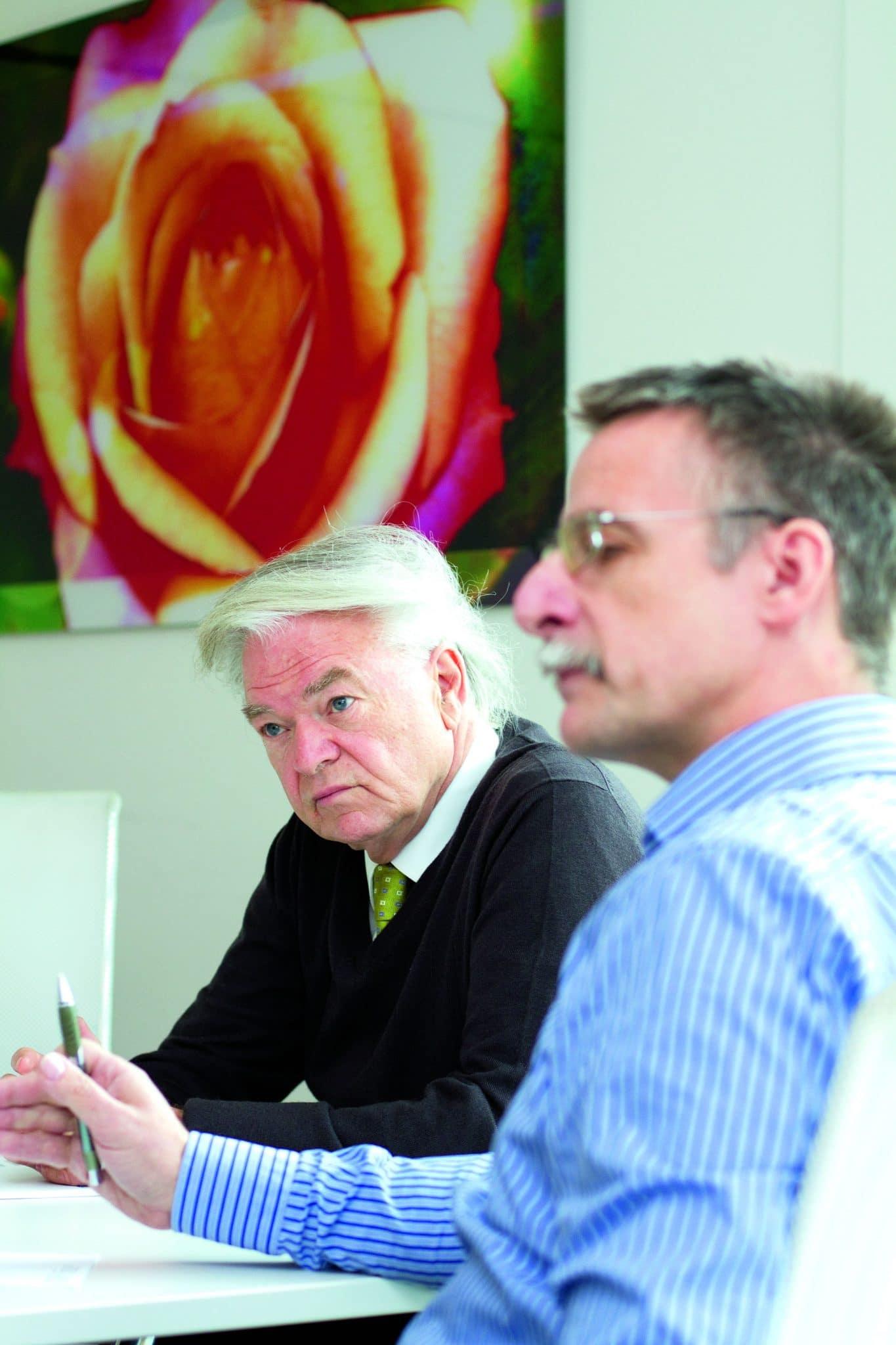 Wollen mehr Öffentlichkeitsarbeit statt Studien: Dieter Weirich und Klaus Morgenstern (v. l.), Foto: Stephan Baumann