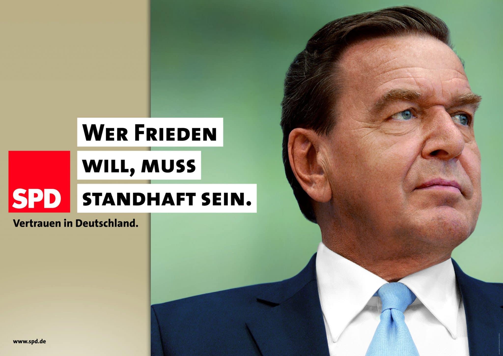 Die SPD-Kampagne zur Bundestagswahl 2005: nüchtern und mit einem klaren Ziel: soziale Gerechtigkeit, Foto: spd.de