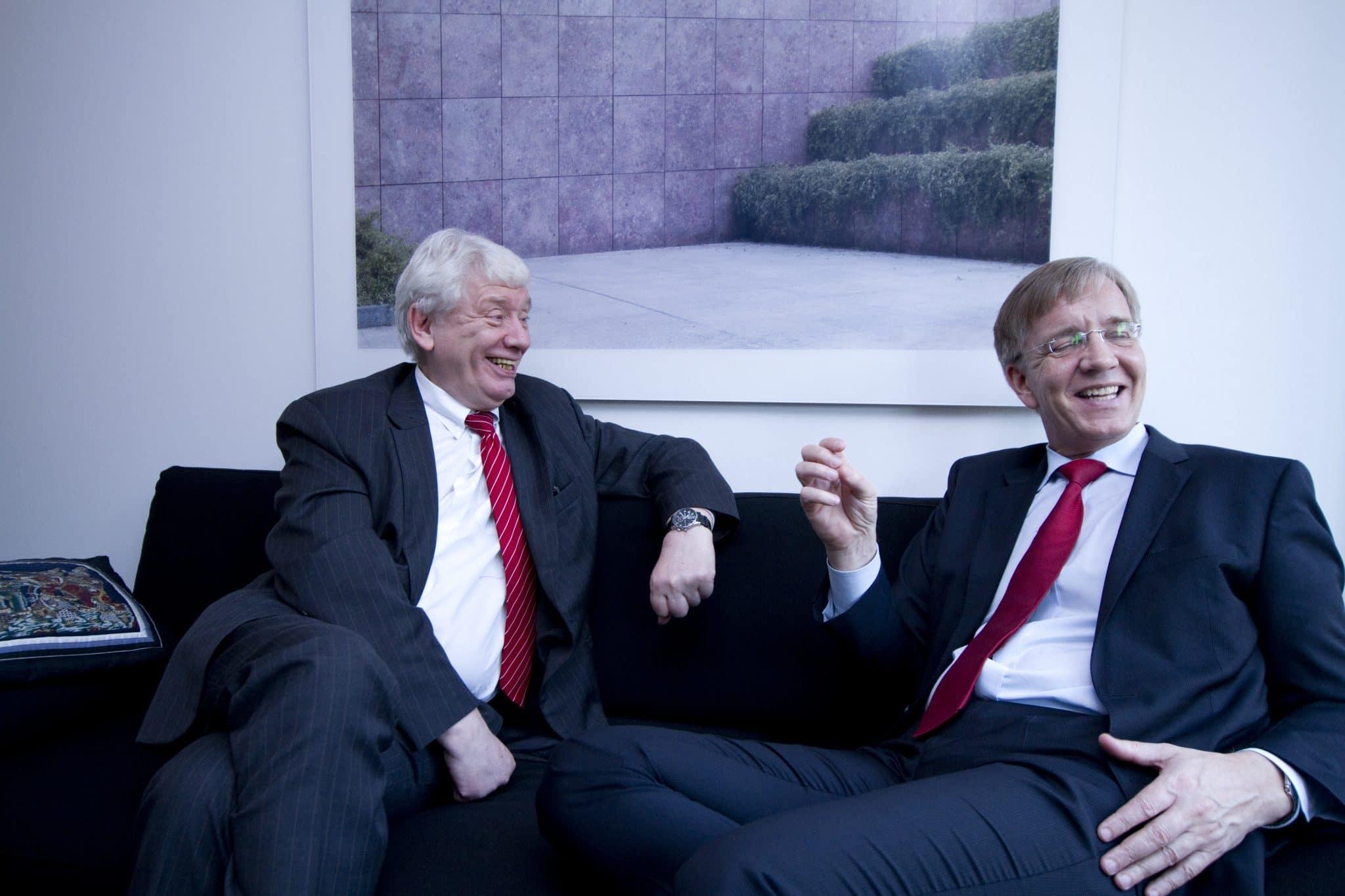 Verstehen sich gut: Jürgen Koppelin (l.) (FDP) und Dietmar Bartsch (Linke), Foto: Stephan Baumann