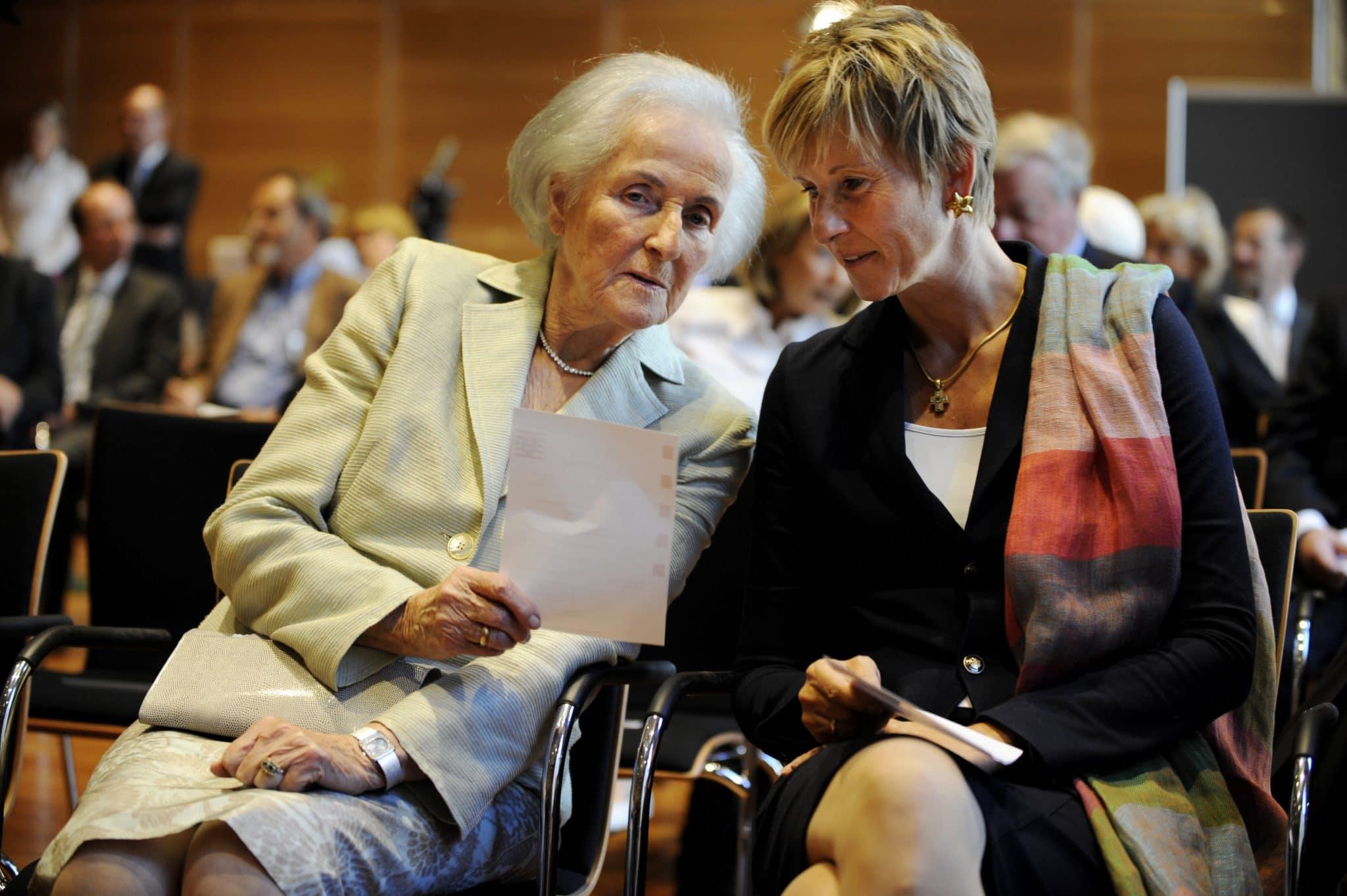 Johanna Quandt (l.) und ihre Tochter Susanne Klatten: Parteispenden als Beitrag für die Gesellschaft, Foto: ddp images