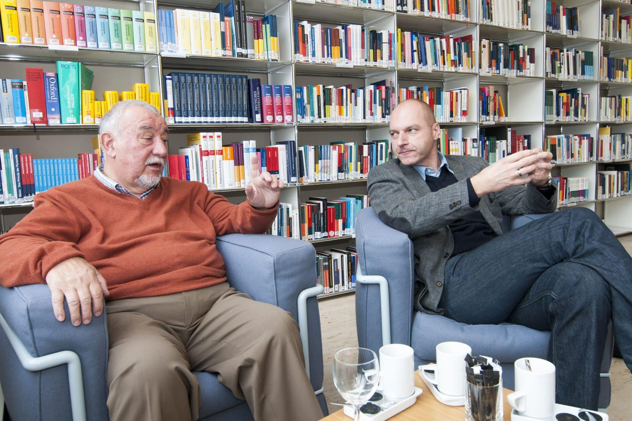 Peter Radunski (l.) und Frank Stauss (Foto: Laurin Schmid)