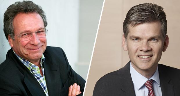 Klaus Ernst und Ingo Wellenreuther, Fotos: Die Linke, Laurence Chaperon