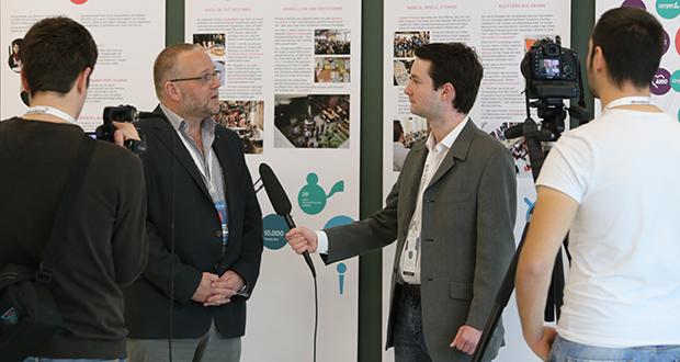 Thomas Schultz-Jagow (l.) im p&k-Gespräch mit Martin Koch, Foto: Joerg Farys