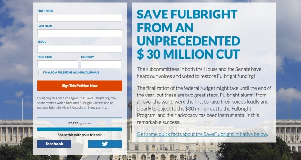 Foto: Screenshot savefulbright.org