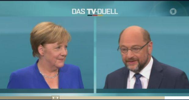 Screenshot: ARD Mediathek http://www.ardmediathek.de/tv/ARD-Sondersendung/Das-TV-Duell-Merkel-gegen-Schulz/Das-Erste/Video?bcastId=3304234&documentId=45652922