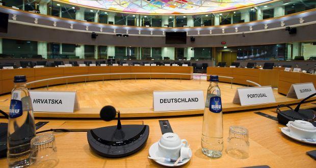 Die Perspektive Deutschlands im Sitzungssaal S3 im Brüsseler Europagebäude, in dem der Rat der EU sitzt (c) HorstWagner.eu
