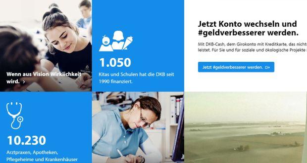Screenshot: geldverbesserer.dkb.de