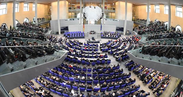 Full House: Am 24. Oktober 2017 konstituierte sich der 19. Deutsche Bundestag in Berlin (c) dpa/Ralf Hirschberger