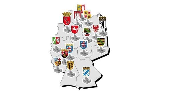 """""""My Home is My Castle"""":  Vor allem große, mitgliederstarke Landesverbände lassen sich ungern von den Parteioberen reinreden. Umgekehrt mischen sie gerne auf Bundesebene mit. (c) Marcel Franke"""